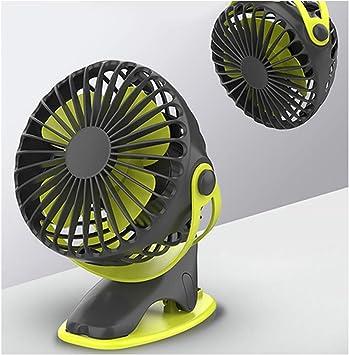 360 ° mulng Hand Held Mini Portátil con USB Recargable Cooler Fan-Verde
