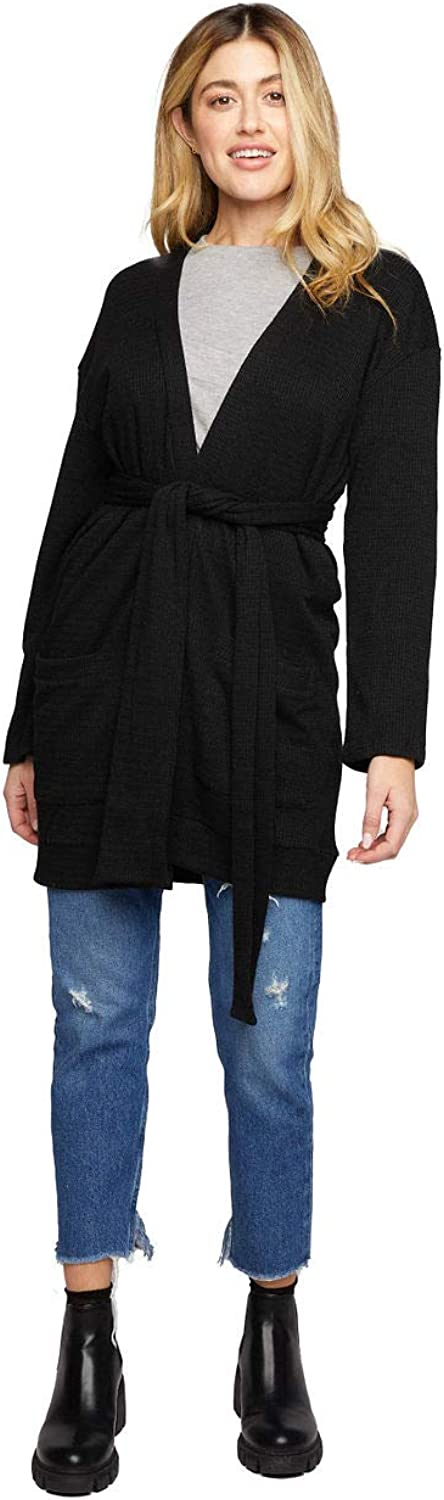 Women's Belted Cardigan - Made in USA