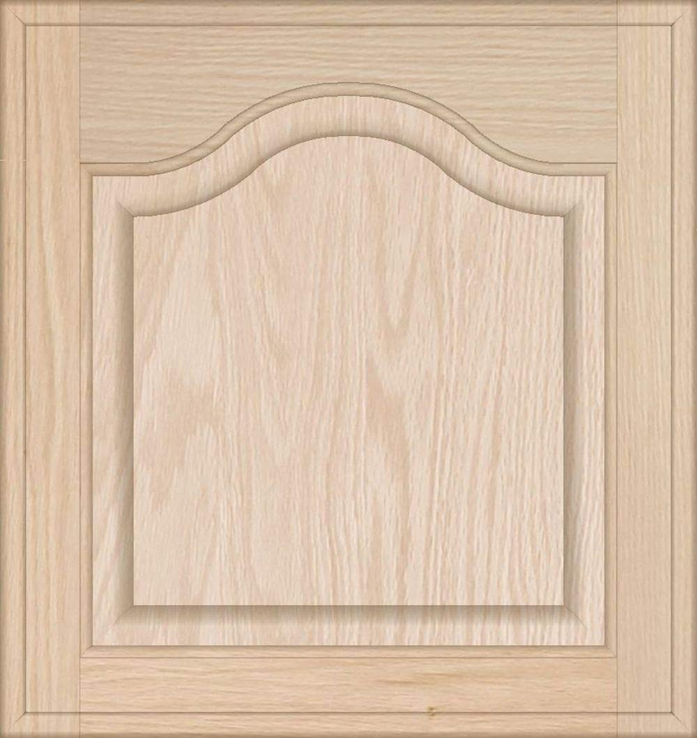 Square with Raised Panel by Kendor 18H x 17W Unfinished Oak Cabinet Door