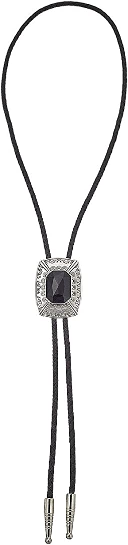 Black Stone Rectangle Pendant