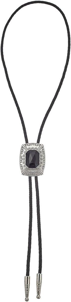 Black Stone Rectangle Pendant