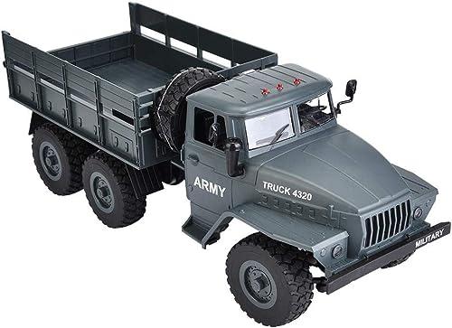 Drfeify MZ 2004 1 12 2.4G modèle de Camion Militaire RC 6WD Voiture Tout-Terrain Jouet pour Enfants Adultes( )