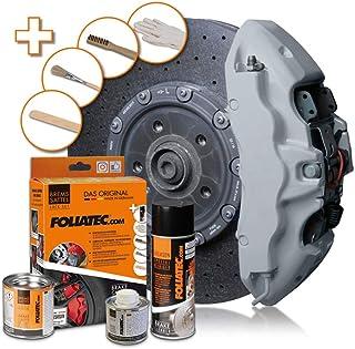 Foliatec F2156 Bremssattel Lack Circuit grau glänzend 3 Komponenten