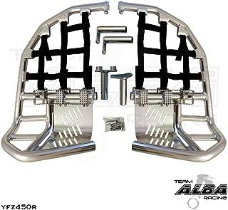Yamaha YFZ 450R / YFZ 450R SE (2009-2019) Propeg Nerf Bars Silver Bars w/Black Net