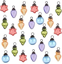 Indian Shelf Handmade 25 Piece Glass Assorted Turquoise Silver Red Party Event Decor Christmas Hanging X-mas Tree Balls Or...