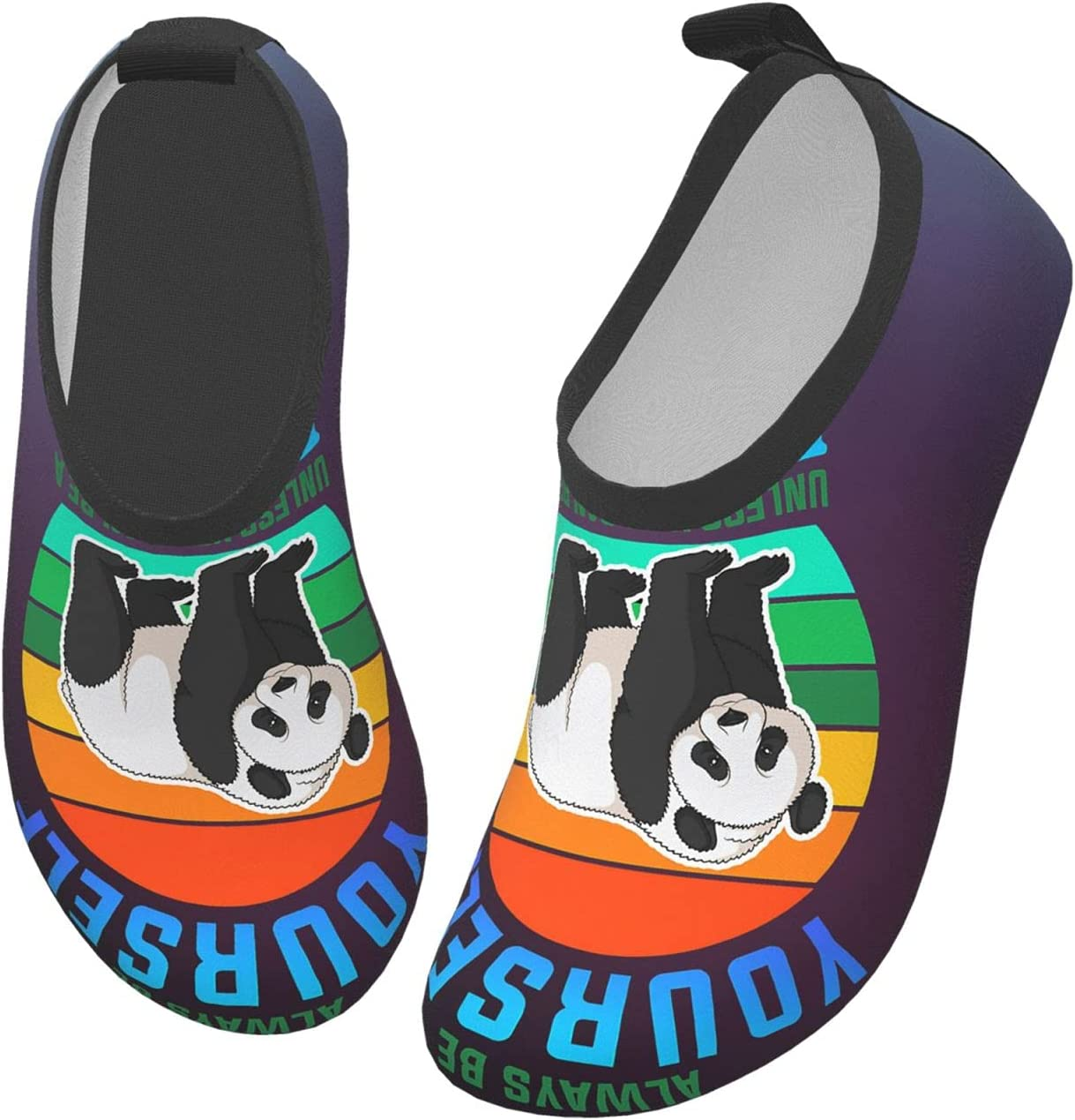 wobzfrok Bamboo Panda Spirit Animal Bear Kids Water Shoes Girls Boys Toddler Non-Slip Quick Dry Aqua Socks for Beach Swim Walking 22/23