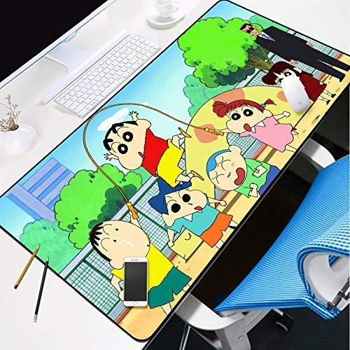 KCGNBQING Gaming Mouse Mat, Gaming Alfombrilla de ratón grande Gaming Mouse Almohadilla Pink Anime Spaceship Girl Thick Extended Mousepad Agua Resistente al agua con la base de goma antideslizante, Pa