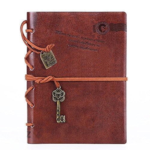 , String-Tagebuch, Schlüssel Vintage Notebook 18 cm dark coffee