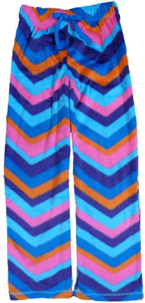 Total Girl Multicolor Girls Fleece Sleep Pants Pajama Bottoms Lounge Small Blue
