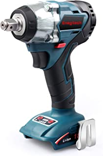 "Enegitech 18V Cordless Impact Wrench Brushless, 4 Rev 1/2"" Automatic Power Tool for Car Tyre, Compatible with Makita 18 volt Lithium-Ion Battery(Tool Only)"
