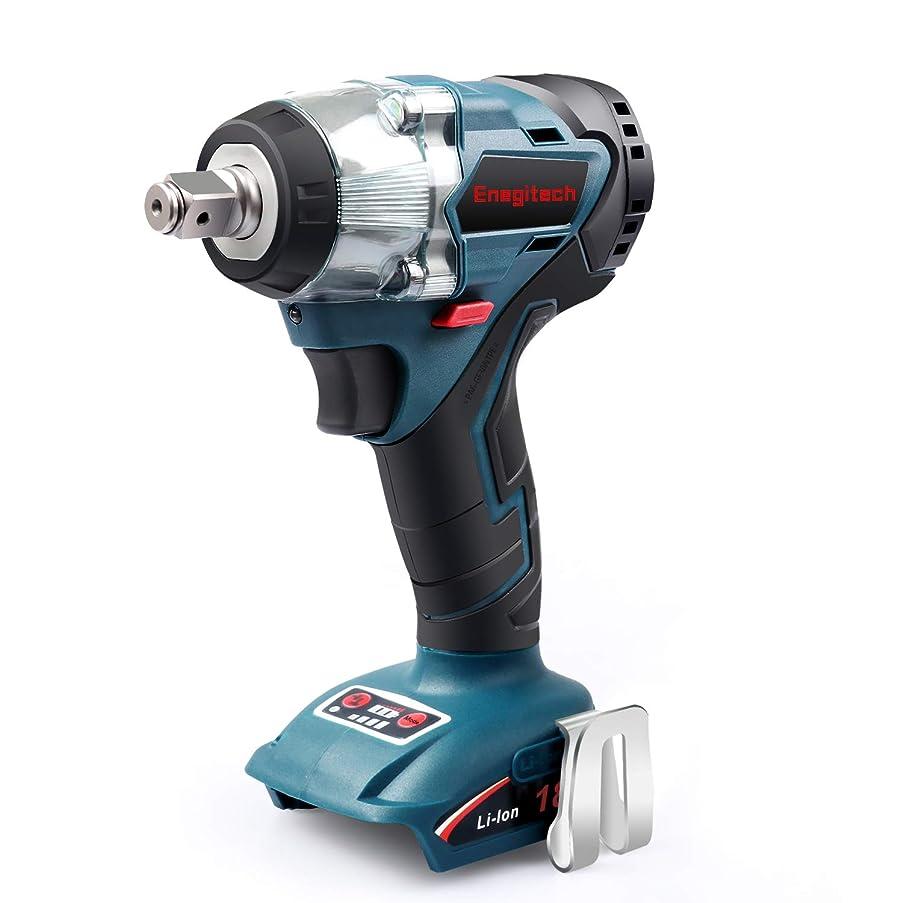 Enegitech 18V Cordless Impact Wrench Brushless, 4 Rev 1/2
