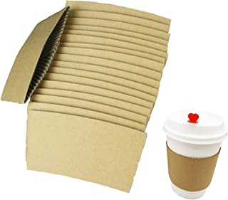 personalized disposable coffee cup sleeves
