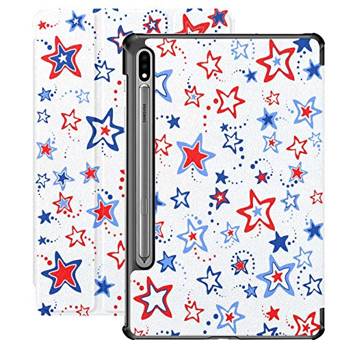 Funda para Samsung Galaxy Tab S7 / s7 Plus 4 de Julio Ilustración Soporte Carcasa Trasera Compatible con Samsung Galaxy Tab S7 Funda para Galaxy Tab S7 11 Pulgadas S7 Plus 12,4 Pulgadas