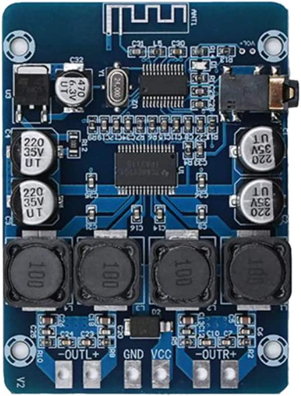 YOURPAI Circuito del condensador, XH-M314 TPA3118 2x45W 12V 24V audio estéreo compatible con alimentación digital