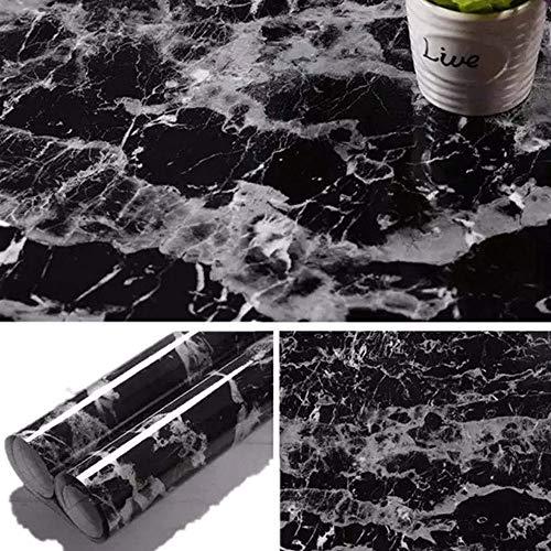 ZTKBG zwart marmer contactpapier graniet behang zelfklevend werkblad afneembare folie vinyl peel back cover wallpaper
