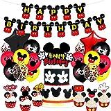 Decoraciones de Cumpleaños de Mickey,Artículos para la Fiesta de Minnie ,Pancarta de Feliz Cumpleaños,Globos y Adornos para Tartas para Cumpleaños,Baby Shower