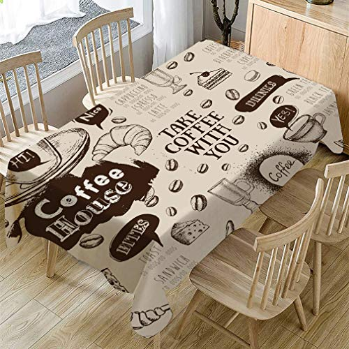 Mantel impermeable de lino, efecto loto, mantel de lino, mantel lavable para jardín, 140 x 240 cm