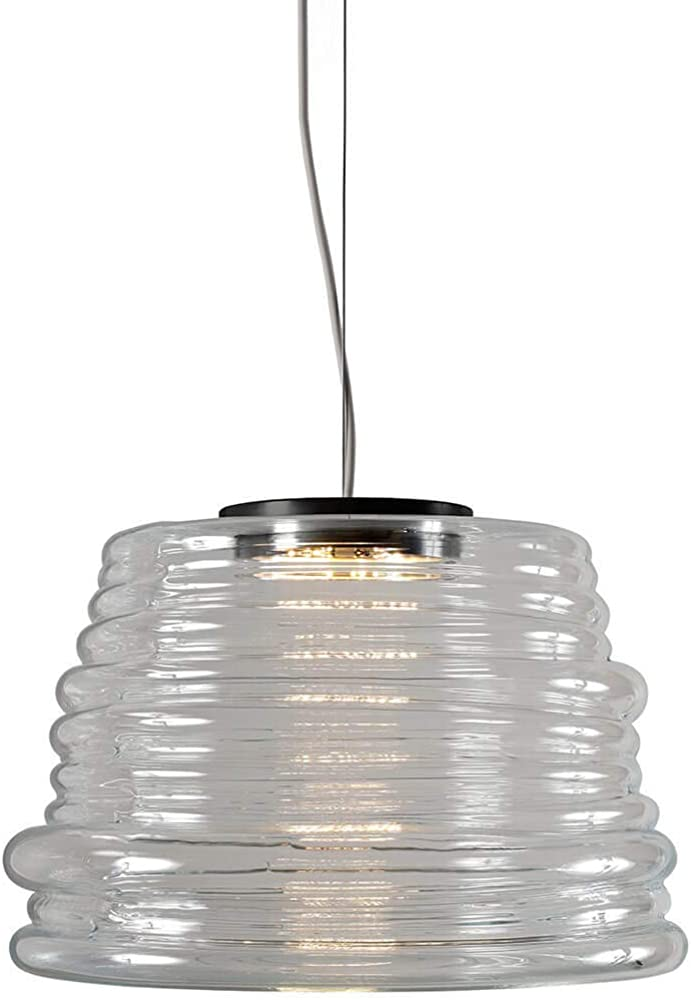 Karman bibendum led, lampada a sospensione Ø35 cm, con paralume in vetro trasparente SE198BT INT