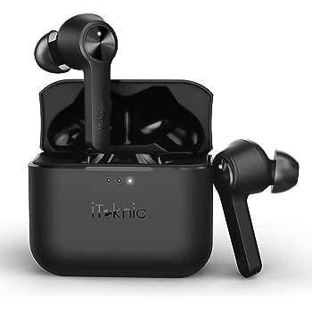 Cuffie Bluetooth Senza Fili iTeknic Auricolari Bluetooth 5.0 Wireless Noise Cancelling Cuffie True Wireless Sport Impermeabili con Scatola Ricarica e 30 Ore di Riproduzione per Huawei Samsung iPhone
