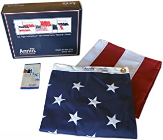 Annin Flagmakers Model 2740 American Flag 6x10 ft. Tough-Tex the Strongest, Longest Lasting Flag, 100% Made in USA with Sewn Stripes, Embroidered Stars and Brass Grommets