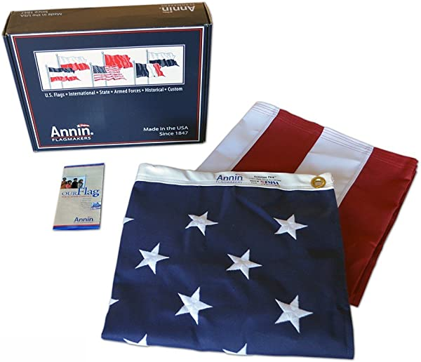 Annin Flagmakers Model 2740 American Flag 6x10 Ft Tough Tex The Strongest Longest Lasting Flag 100 Made In USA With Sewn Stripes Embroidered Stars And Brass Grommets