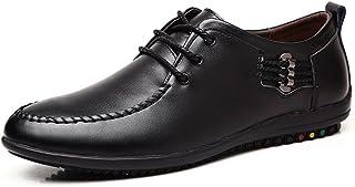 [QIFENGDIANZI] 靴 メンズ ドライビングシューズ カジュアルシューズ ローファー スリッポン モカシン デッキシューズ ビジネスシューズ お洒落 身長アップ 軽量 通気性 アウトドア ローカット 通勤 通学 ブラウン ブルー 黒
