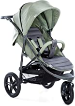 Hauck Rapid 3R Dreirad Buggy bis 25 kg mit Liegefunktion ab Geburt, extra großes Verdeck, höhenverstellbarer Griff, einhändig klein faltbar, hochwertig, All-Terrain Gummiprofil-Räder - Grün Grau
