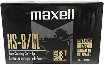 Maxell Hs-8/Cl 8MM Cleaning Cartridge (1-Pack, 20-Cleanings)