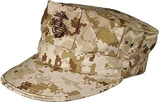 USMC Desert Digital 8-Point Utility Garrison Cover with Emblem