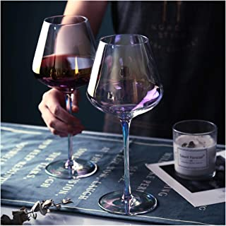 Amesser Crystal Wine Glasses 22 - Ounce Set of 2, Lead·Free Handblown Italian Style Stemware Wine glass for Burgundy, Cabe...