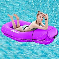 SEGOAL Pool Floats Inflatable Floating Lounger Chair Water Hammock Raft Swimming Ring Pool Toy for Adults & Kids, Lightweight Single Layer Nylon Fabric No Pump Required, 3 Seconds Filling The Air