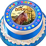 Kuchendekoration Dinosaurier-Motiv Happy Birthday