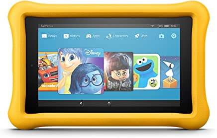 "Fire 7 Kids Edition Tablet, 7"" Display, 16 GB, Yellow Kid-Proof Case"