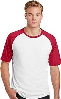 Camiseta Masculina Raglan manga curta vermelha