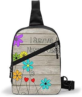 Enfermera jubilada divertida cita pecho paquete multipropósito Crossbody bolso de hombro al aire libre mochila mochila de gran capacidad casual deporte mochila para senderismo viaje deporte