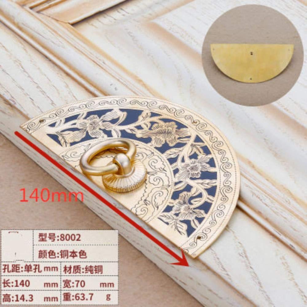 Manija de puerta corredera de estilo chino vintage tirador de cajón de latón para puertas interiores Herrajes para muebles de gabinete, 1: Amazon.es: Bricolaje y herramientas
