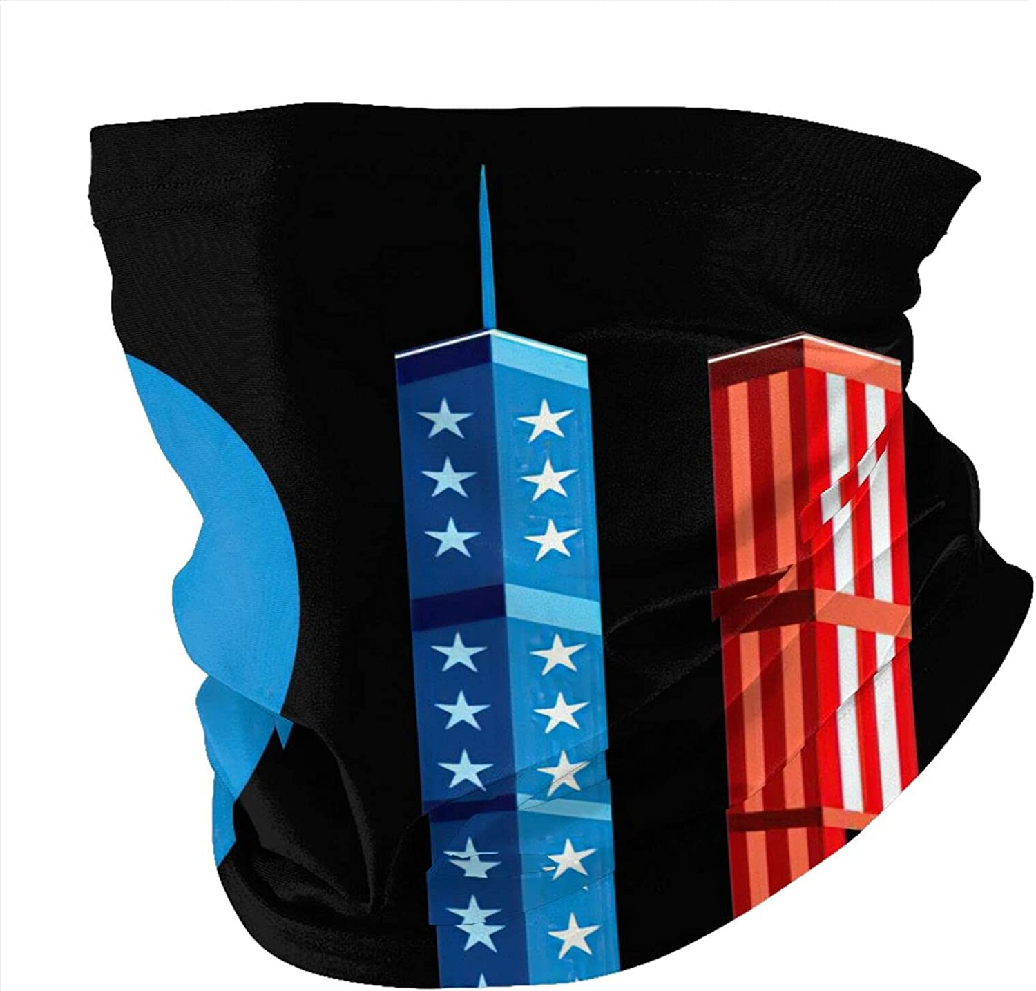 Never Forget September 11 Attacks Neck Gaiter Face Masks Reusable Cloth Face Masks Washable Bandana Face Masks Sun Dust Protection Balaclava Face Cover Scarf Shield For Fishing Cycling