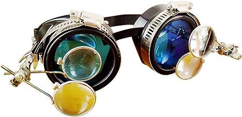 Chenyuan  entragende Cyber  teampunk-Schutzbrille im viktorianischen Stil mit Kompassdesign, farbigen Gl rn und doppelter Augenlupe für Erwachsene (Farbe   Style1)