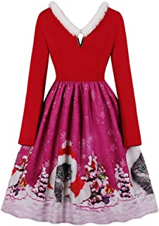 WOCACHI Dresses for Womens Women Off Shoulder Short Sleeve Print Bandage Sashes Ladies Dress
