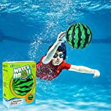 GoSlaz Pool Ball - 9 Inch Water Ball for Underwater Games, Passing, Dribbling - Fillable Swimming Pool Balls for Kids and Adults - Fun Waterproof Beachball for Football, Basketball