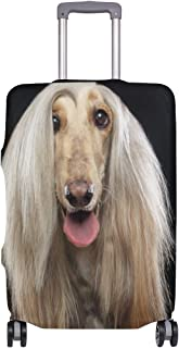 Mydaily Afghan Hound Dog Luggage Cover Fits 18-32 Inch Suitcase Spandex Travel Baggage Protector