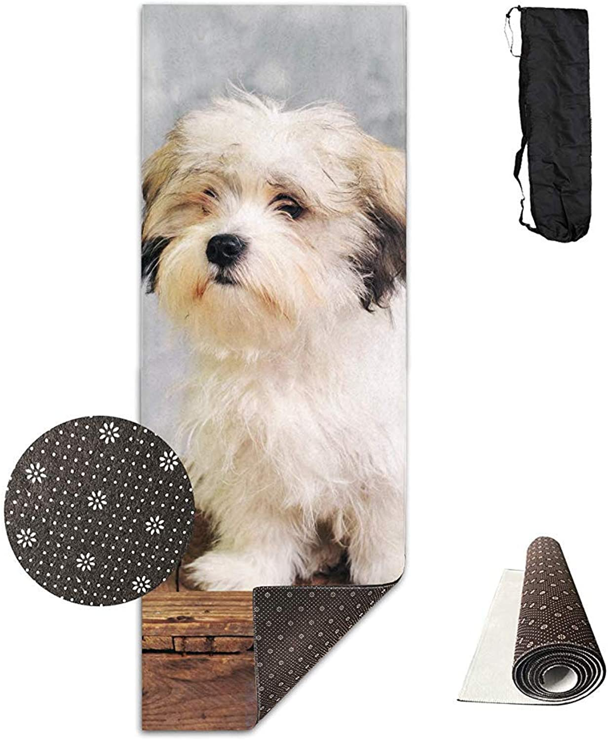CC Decoration Fitness Mat,Malteser Hundesitting Yoga Mat Stilvolle Druck-übungs-Yoga-Matten Für Breathwork Yoga Pilates