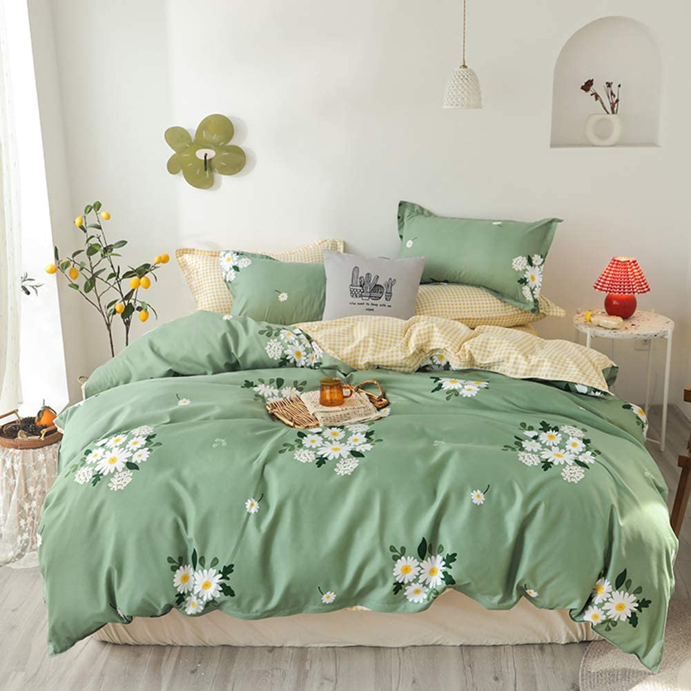Daisy Bedding Set Limited Special Price Girls Floral Sage Duvet Green Max 66% OFF Cover