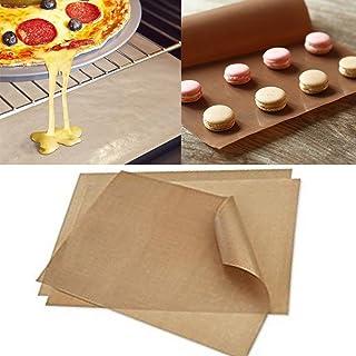 Fellibay réutilisable Tapis de cuisson en téflon antiadhésif plaque de cuisson Tapis 3 Pack