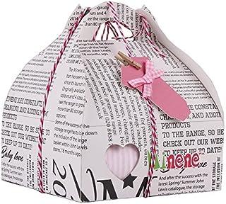 Minene Case - Caja de regalo, incluye body a rayas con aplique, pantalón, calcetines y corazoncito de tela, color rosa