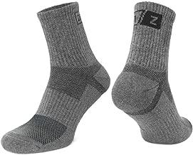 281Z Hiking Cotton Cushioned Micro Crew Boot Socks - Moisture Wicking - Odor Resistant (Dark Grey)