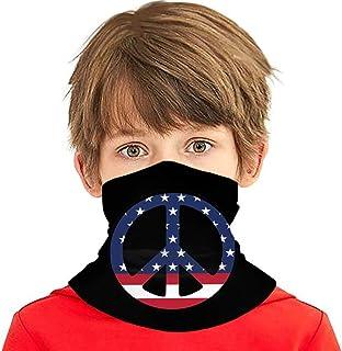Wthesunshin Bufanda Niños Calentadora De Cuello Signo de la Paz de la Bandera Americana Bufanda de Invierno Bandana Pasamo...