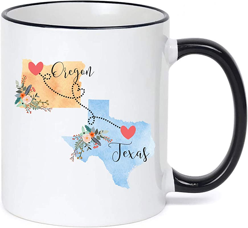 Oregon Texas Mug Coffee Cup Gift Best Friend Mom Girlfriend Aunt Grandma Birthday Mother S Day Going Away Present Moving New Job Gifts