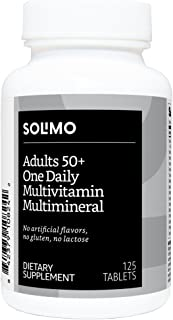 Amazon Brand - Solimo Adult 50+ One Daily Multivitamin Multimineral, 125 Tablets, Four Month Supply