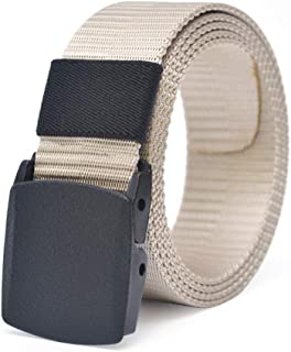 MEILISAY Nylon Military Tactical Men Belt Webbing Canvas Outdoor Web Belt with Plastic Buckle BE002